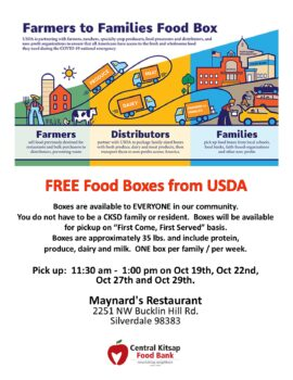 Pick up your free box of food at Maynard's.