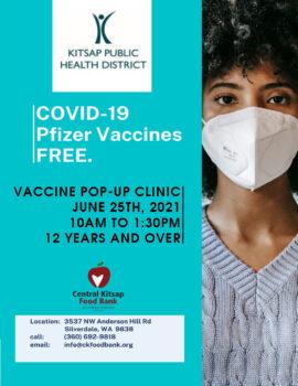 COVID-19 Vaccination Clinic June 25th, 2021