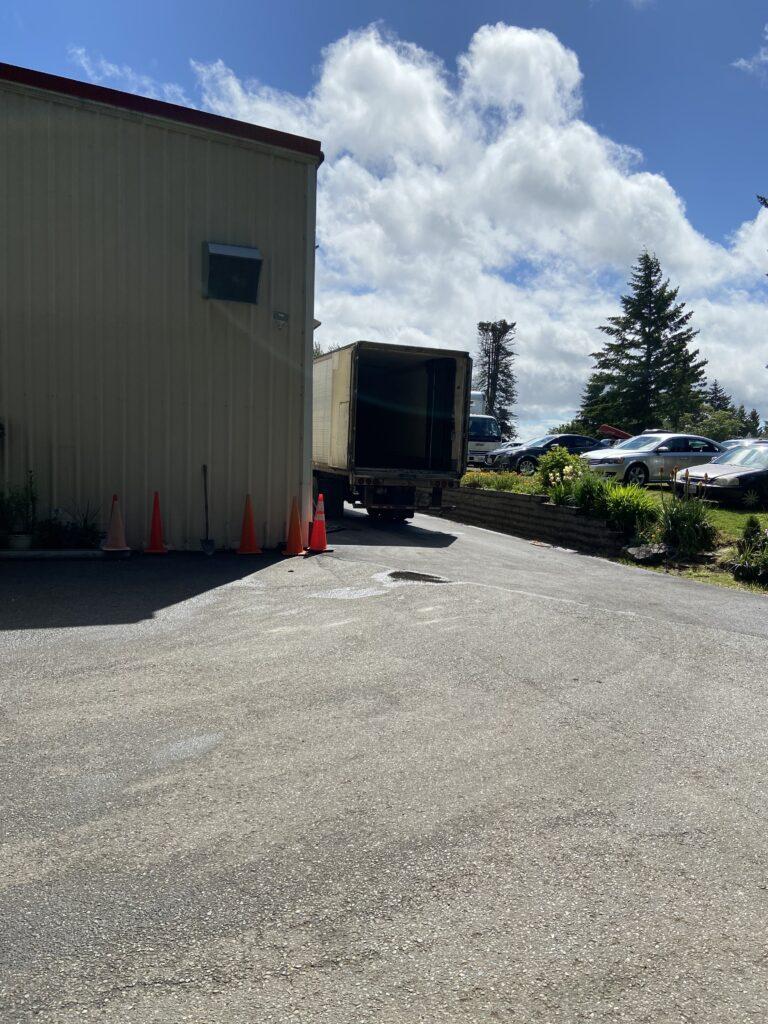 CSFP Truck Delivering
