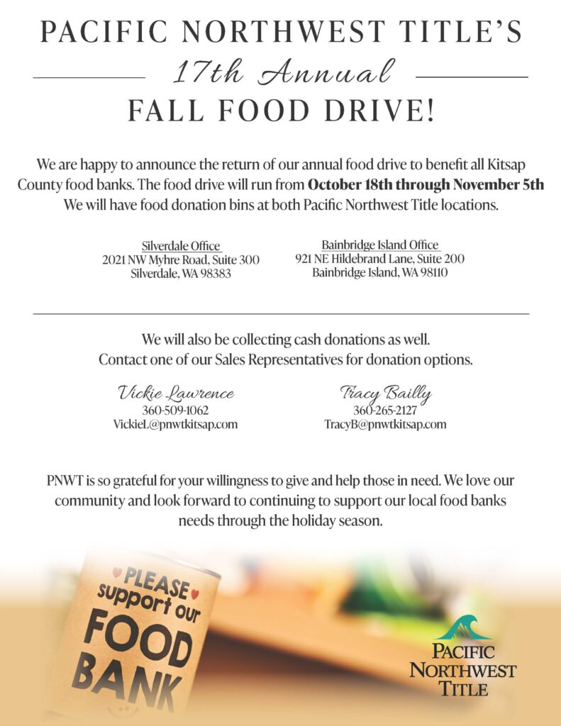 Pacific Northwest Title Annual Food Drive